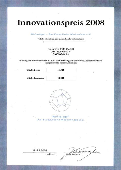 Innovationspreis 2008