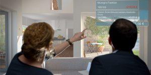 Bauherren in der virtuellen Bemusterung