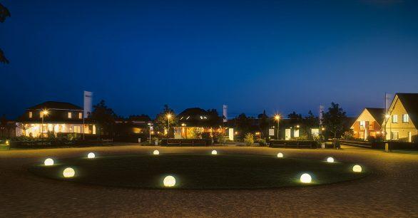 Massivhauspark Netzen am Abend