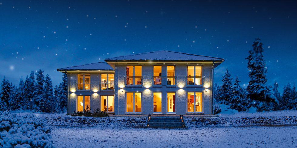 Stadthaus S 300 Doppelhaus im Schnee