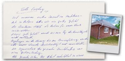 Bauherrenbrief: Alle Wünsche verwirklicht