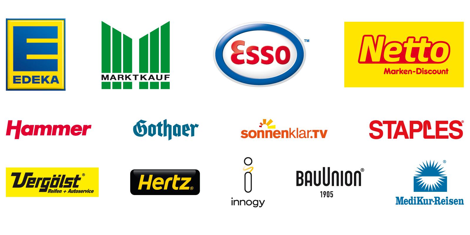 DeutschlandCard Partner Logos